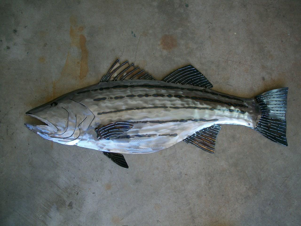 Metal Wall Art Fish   Wallartideas Pertaining To Fish Shoal Metal Wall Art (Image 11 of 20)