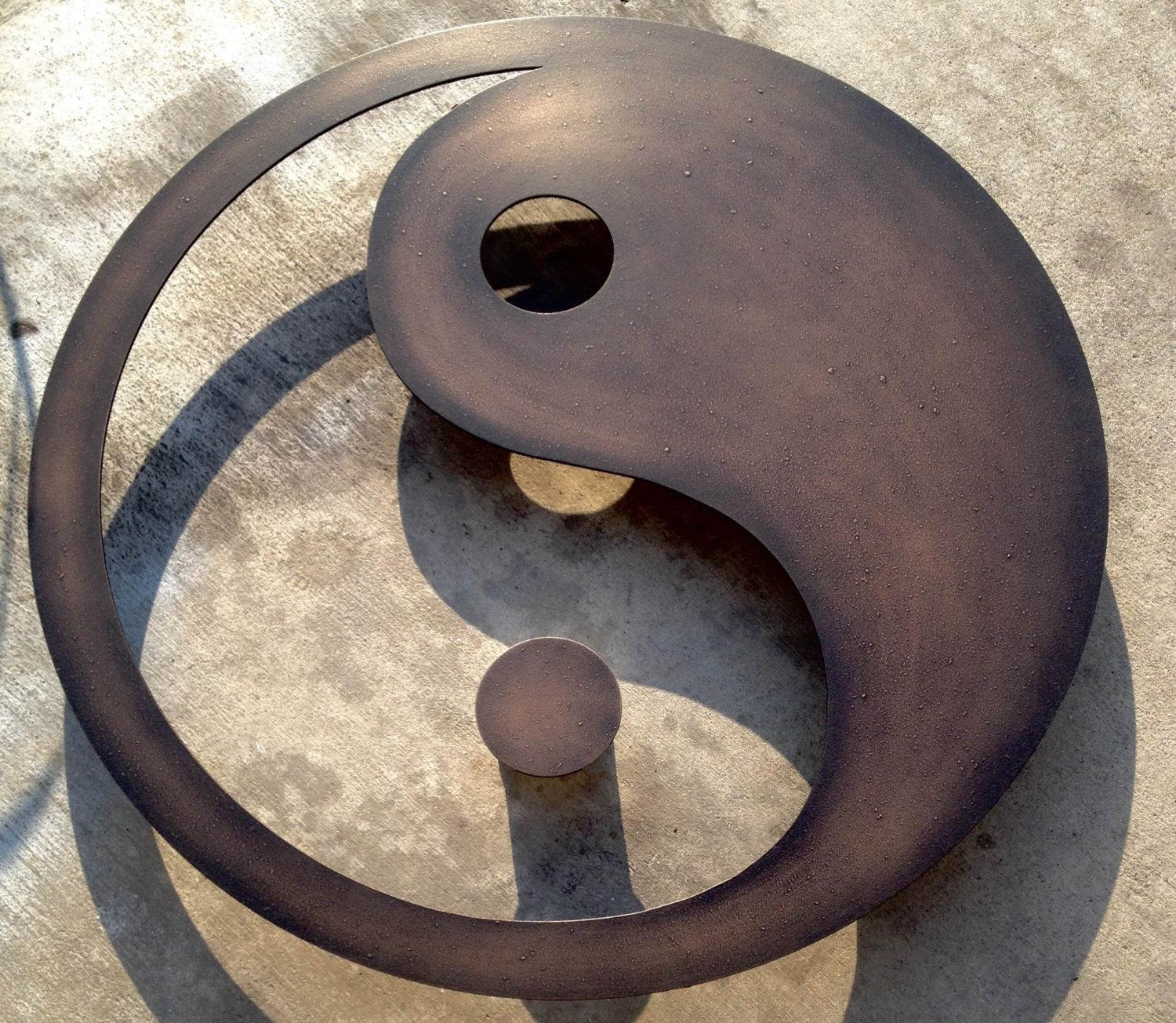 Metal Wall Art For The Home Or Officeinspiremetals On Etsy Throughout Yin Yang Wall Art (Image 6 of 20)