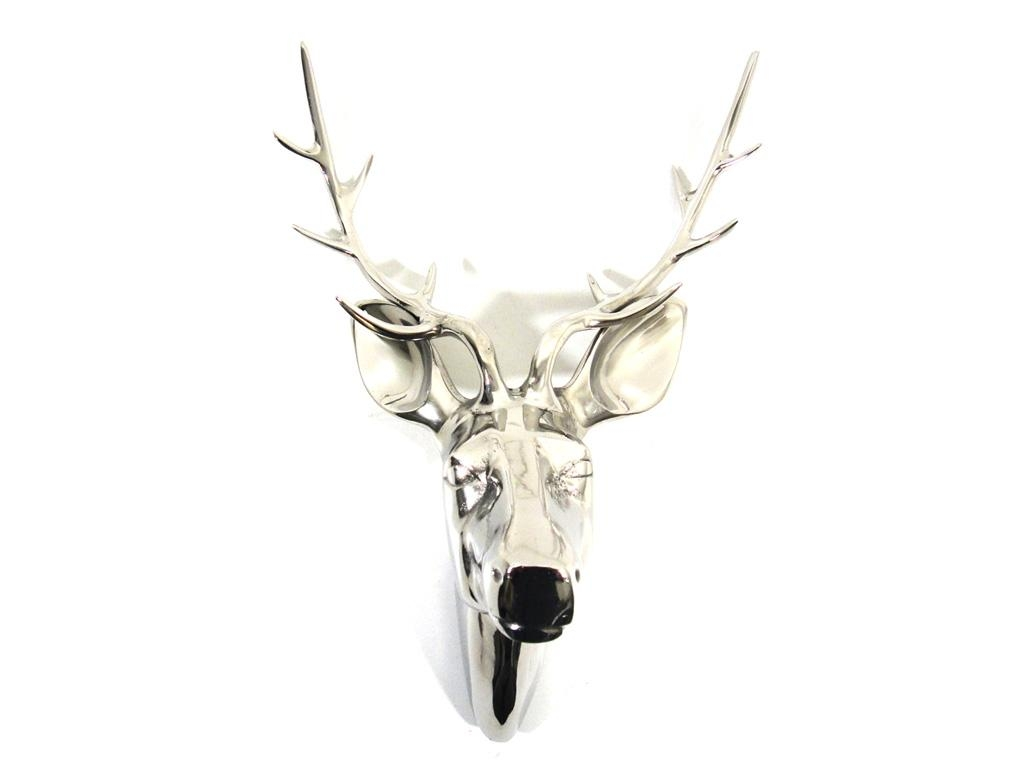 Metal Wall Art – Large Deer Stag Head Pertaining To Stag Head Wall Art (Image 11 of 20)