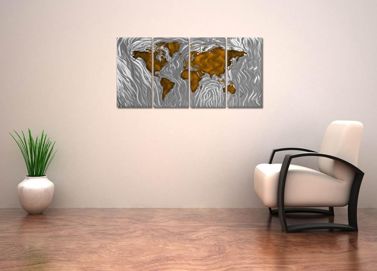 Metal Wall Art Mapped Out Brownash Carl [351943329963 Pertaining To Ash Carl Metal Wall Art (Image 8 of 20)