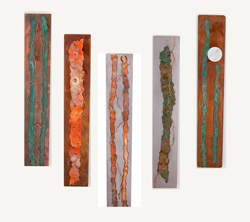 Metal Wall Art: Organic Serieskristen Hoard ($175) Pertaining To Rectangular Metal Wall Art (View 2 of 20)