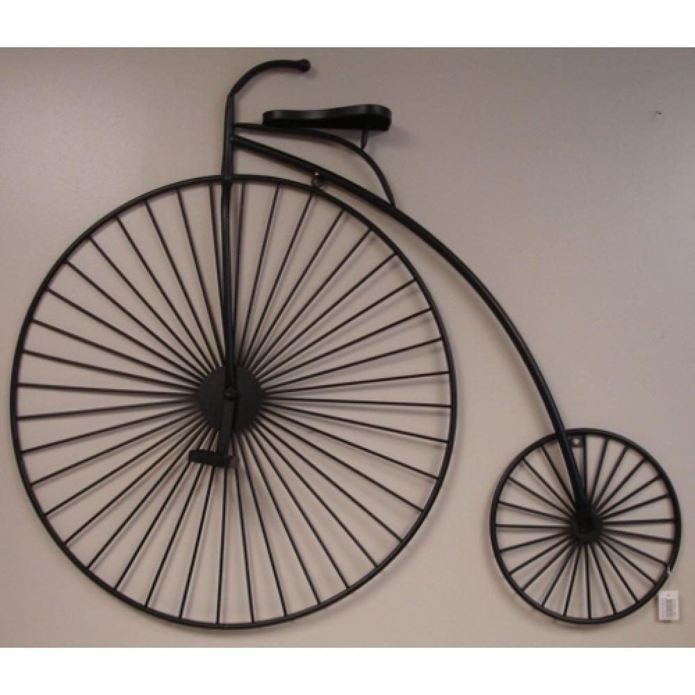 Metal Wall Art – Penny Farthing Black – 112Cm Pertaining To Bicycle Metal Wall Art (View 12 of 20)