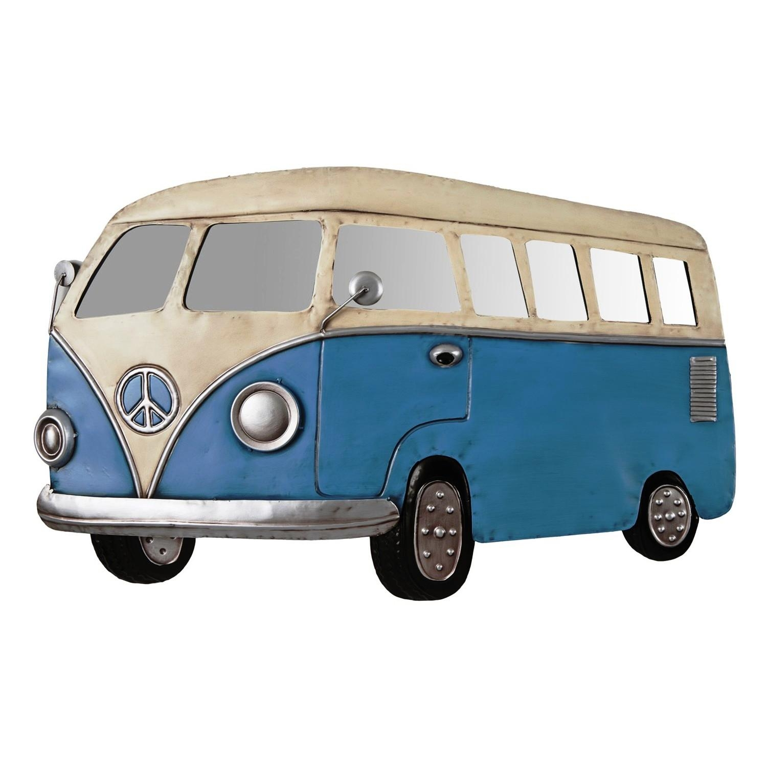 Metal Wall Art Retro Camper Van | Decorcave For Campervan Metal Wall Art (Image 9 of 20)
