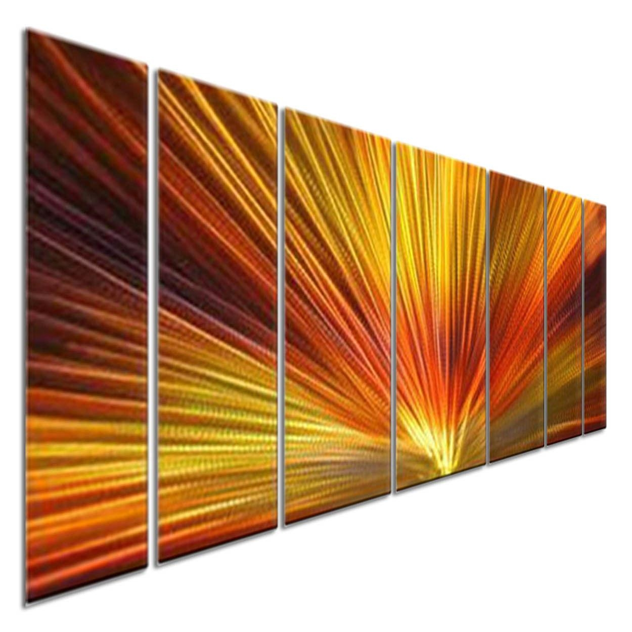 Metal Wall Art Sculpture Ash Carl Abstract Painting Modern Home In Ash Carl Metal Wall Art (Image 9 of 20)