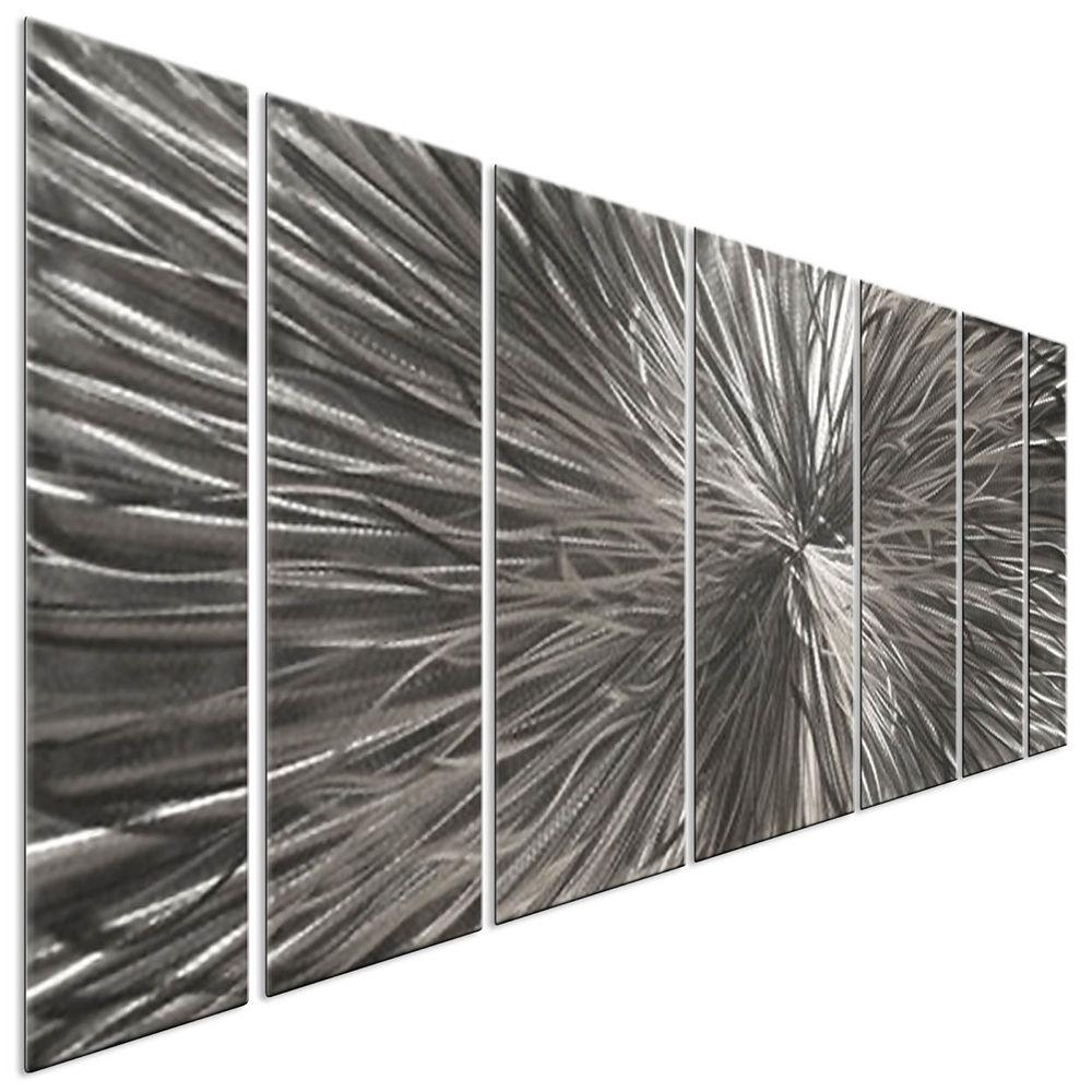 Metal Wall Art Sculpture Radiate Silver Contemporary Modern Home With Ash Carl Metal Art (Image 12 of 20)