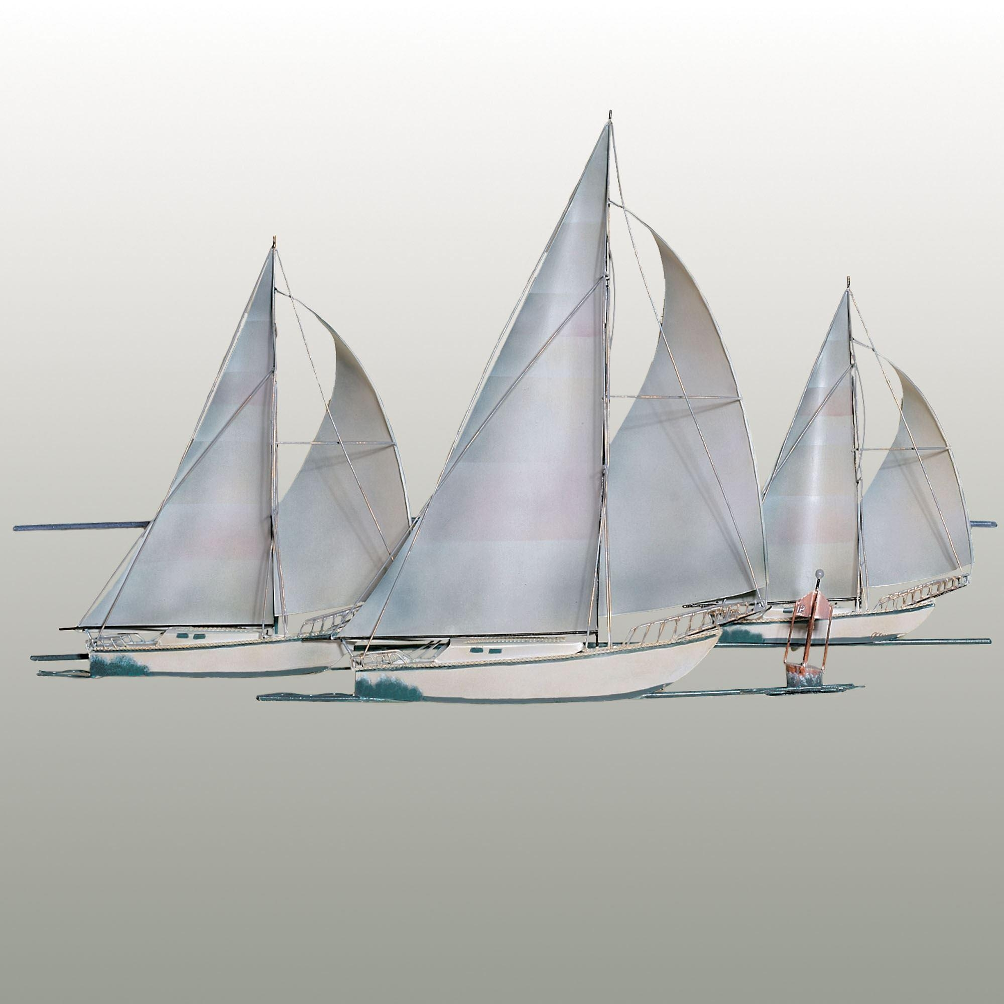 Metal Wall Art Sculptures | Touch Of Class For Metal Sailboat Wall Art (Image 9 of 20)