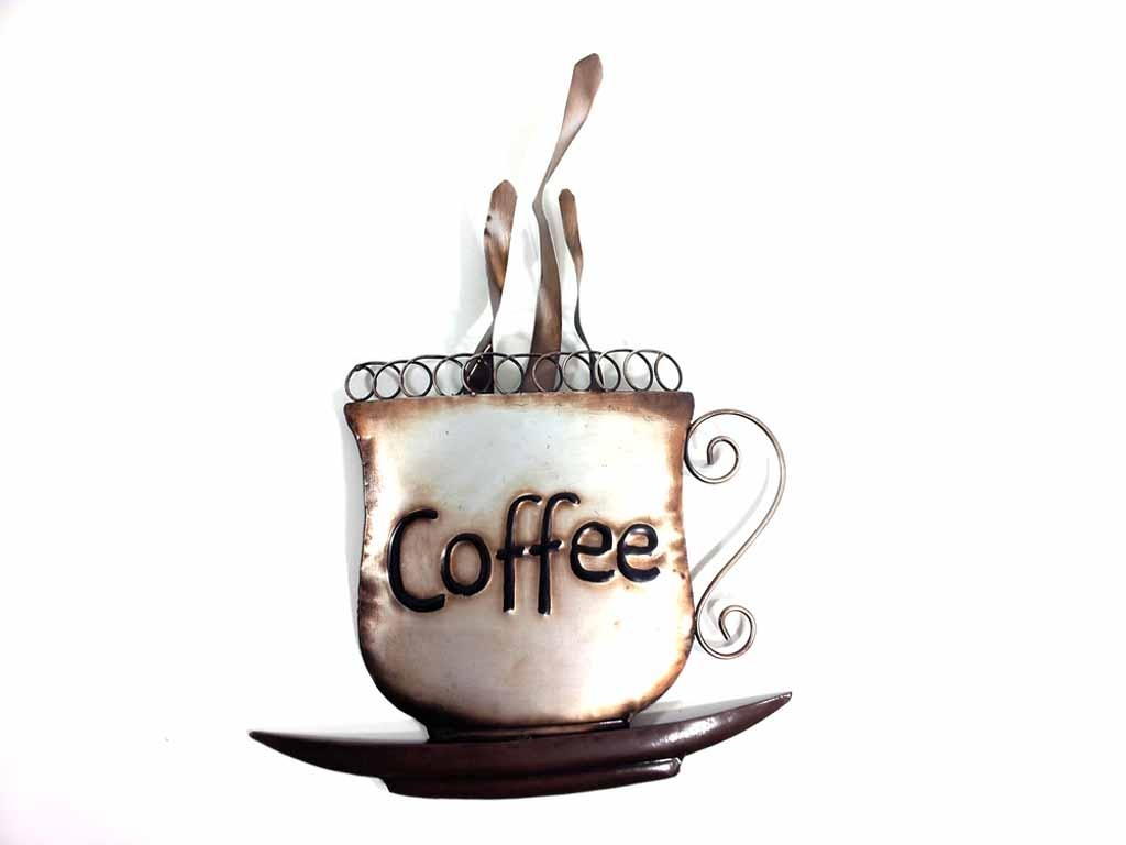 Metal Wall Art – Steaming Coffee Cup With Metal Coffee Cup Wall Art (Image 16 of 20)