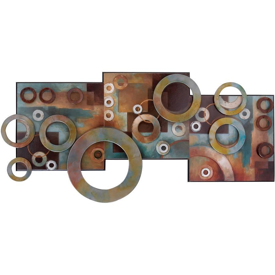Metal Wall Art – Walmart Throughout Rectangular Metal Wall Art (Image 13 of 20)