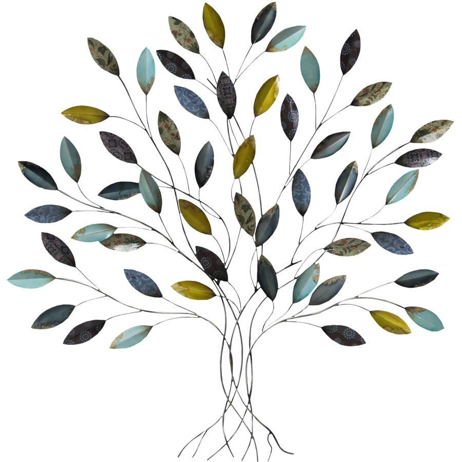 Metal Wall Art – Walmart With Regard To Metal Oak Tree Wall Art (Image 10 of 20)