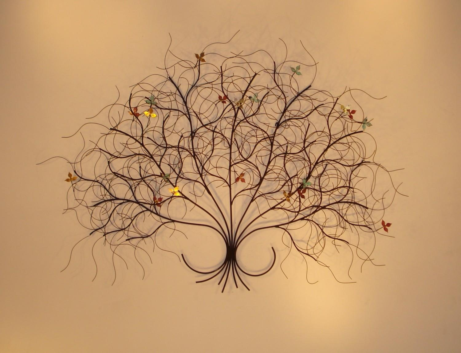 Metal Wall Sculptures And Wall Art – Branches | Gurtan Designs With Metal Tree Wall Art Sculpture (View 7 of 20)
