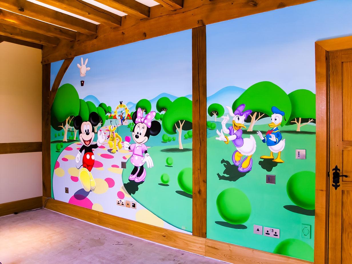 Mickey Mouse Clubhouse Mural | Sacredart Murals With Mickey Mouse Clubhouse Wall Art (View 4 of 20)