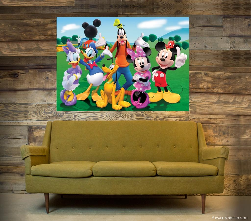 Mickey Mouse Clubhouse Wall Art – One Piece Poster (A1 – A5 Sizes Throughout Mickey Mouse Clubhouse Wall Art (Image 12 of 20)