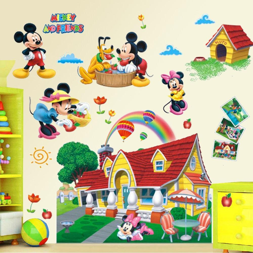 Mickey Mouse Clubhouse Wall Decals Design Ideas And Decor In Inside Mickey Mouse Clubhouse Wall Art (Image 14 of 20)