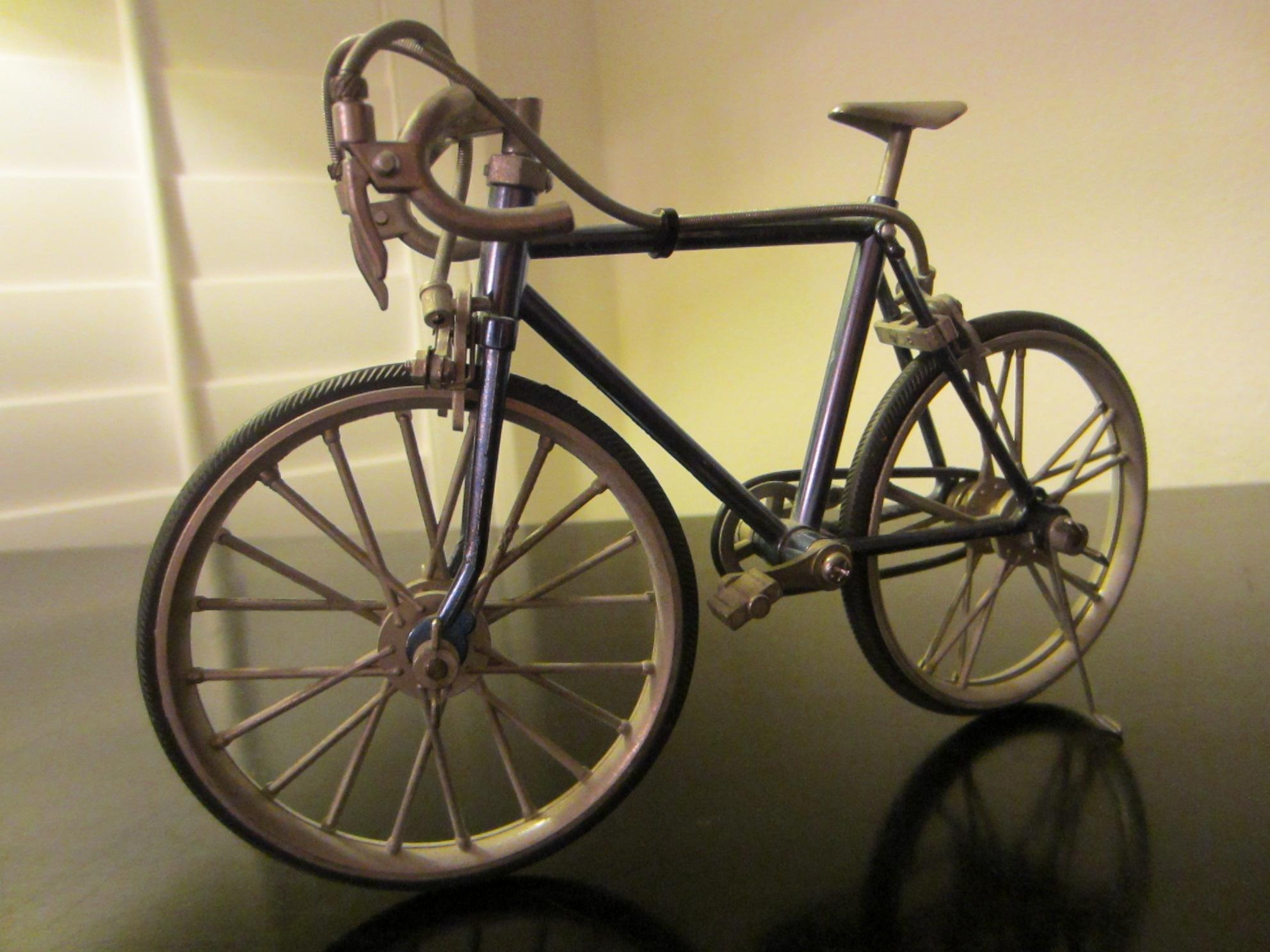 Mid Century Metal Bicycle Folk Art Sculpture For Sale | Antiques In Metal Bicycle Art (View 3 of 20)