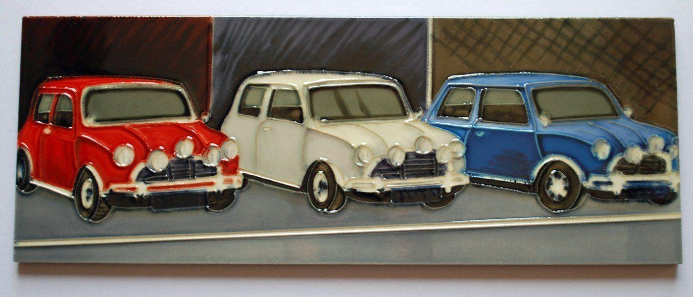 Mini Coopers Italian Job Hand Crafted Ceramic Wall Art With Regard To Italian Ceramic Wall Art (Image 14 of 20)
