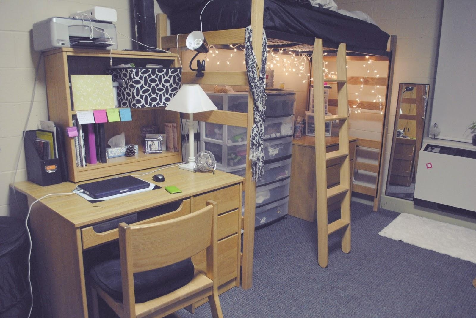 Minimalist Dorm Decorating Ideas Along With Compact Features And Pertaining To College Dorm Wall Art (Image 19 of 20)