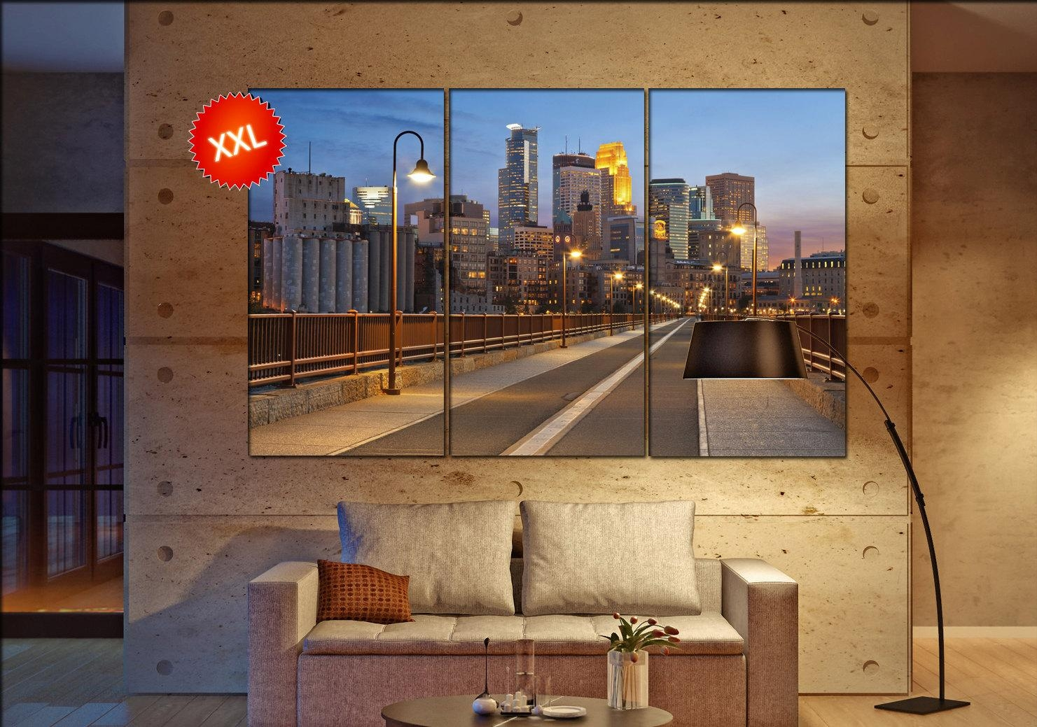 Minneapolis Wall Art Print Prints On Canvas Minneapolis (View 17 of 20)