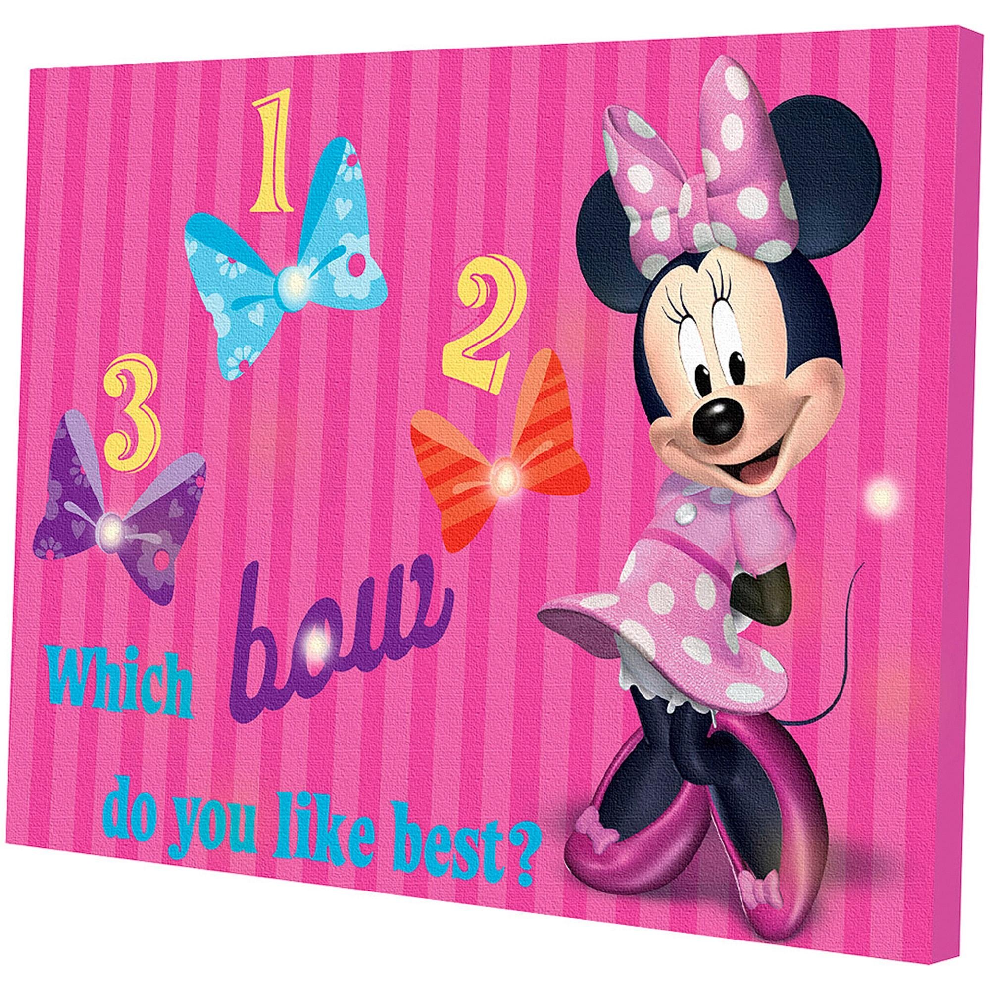 Minnie Mouse Light Up Canvas Wall Art With Bonus Led Lights With Girls Canvas Wall Art (View 7 of 20)
