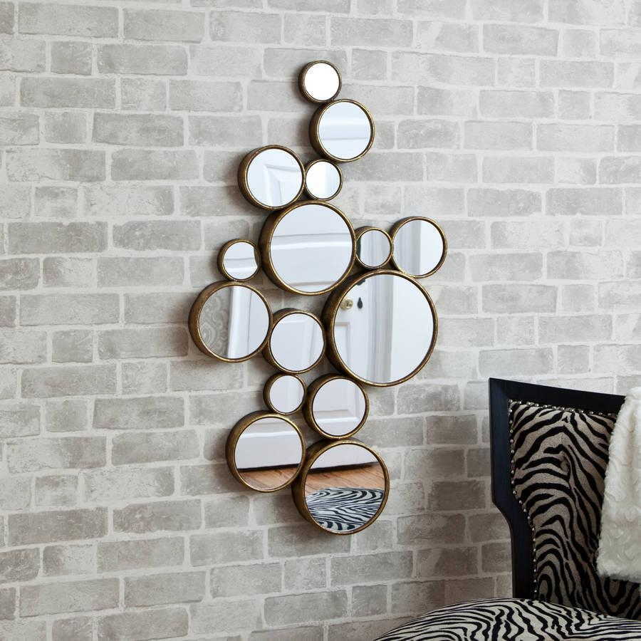 20 collection of mirror circles wall art wall art ideas for Modern mirrored wall art