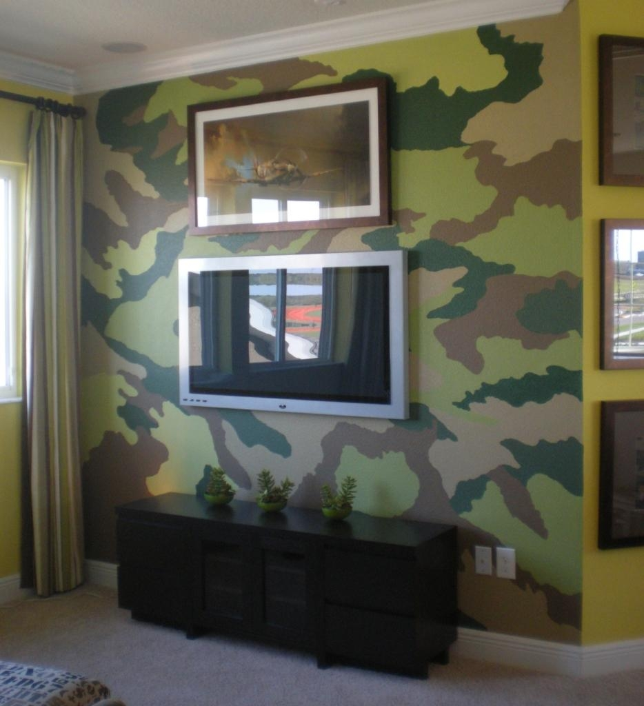 Model Home Murals Artist In Orlando & Lake Mary Fl | Juli Simon With Regard To Camouflage Wall Art (Image 15 of 20)