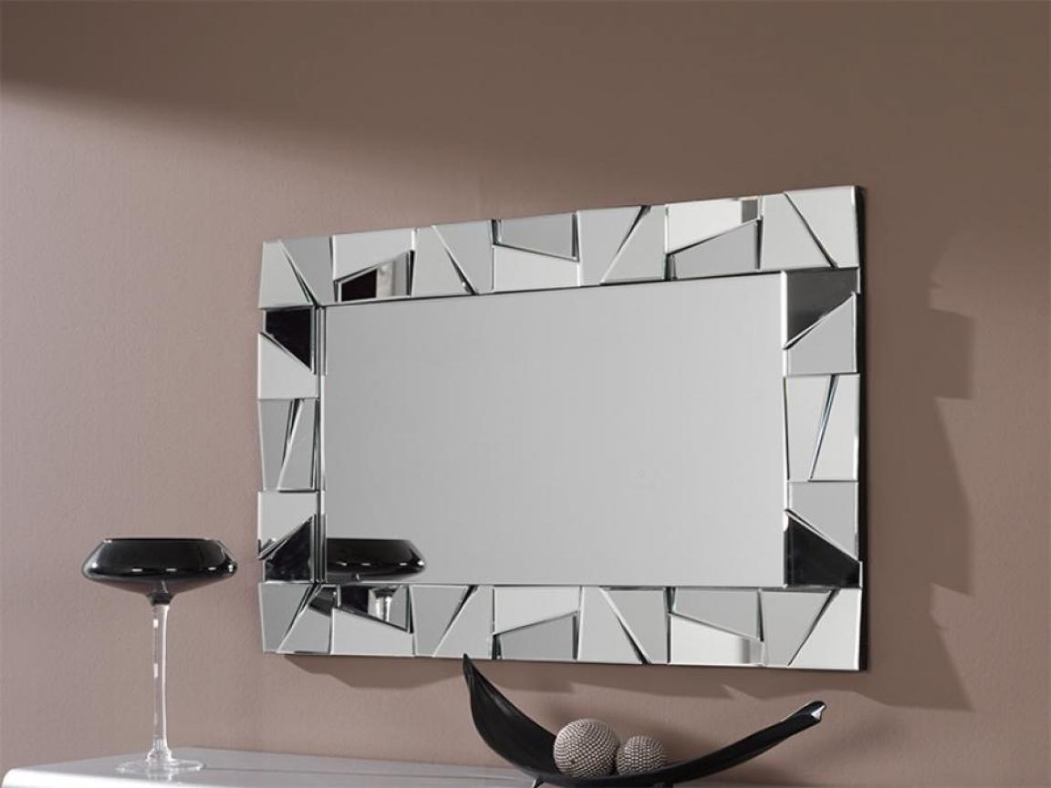 Modern Bathroom Wall Mirrors Metal Artwork Modern Wall Decor With Regard To Mirrors Modern Wall Art (Image 9 of 20)