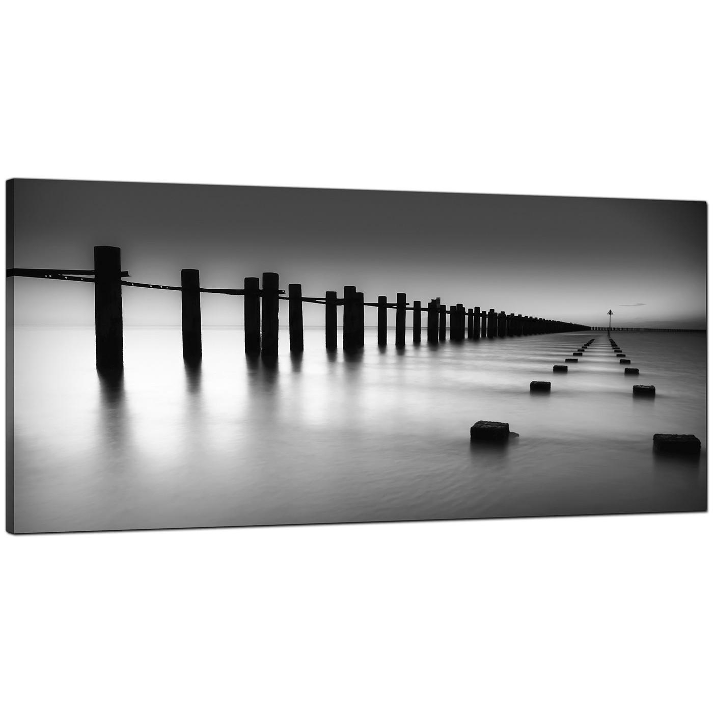 Modern Black And White Canvas Art Of The Sea In Cheap Black And White Wall Art (Image 8 of 20)
