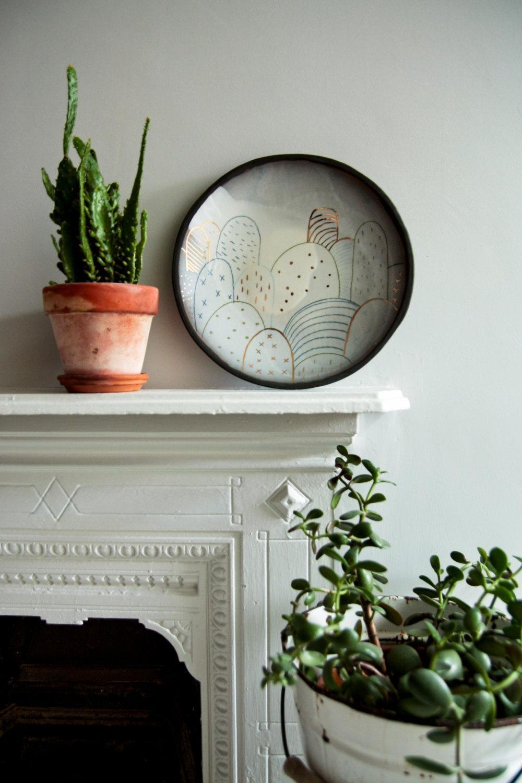 Modern Ceramic Wall Art Large Black Plate Abstract Pattern Intended For Large Ceramic Wall Art (View 17 of 20)