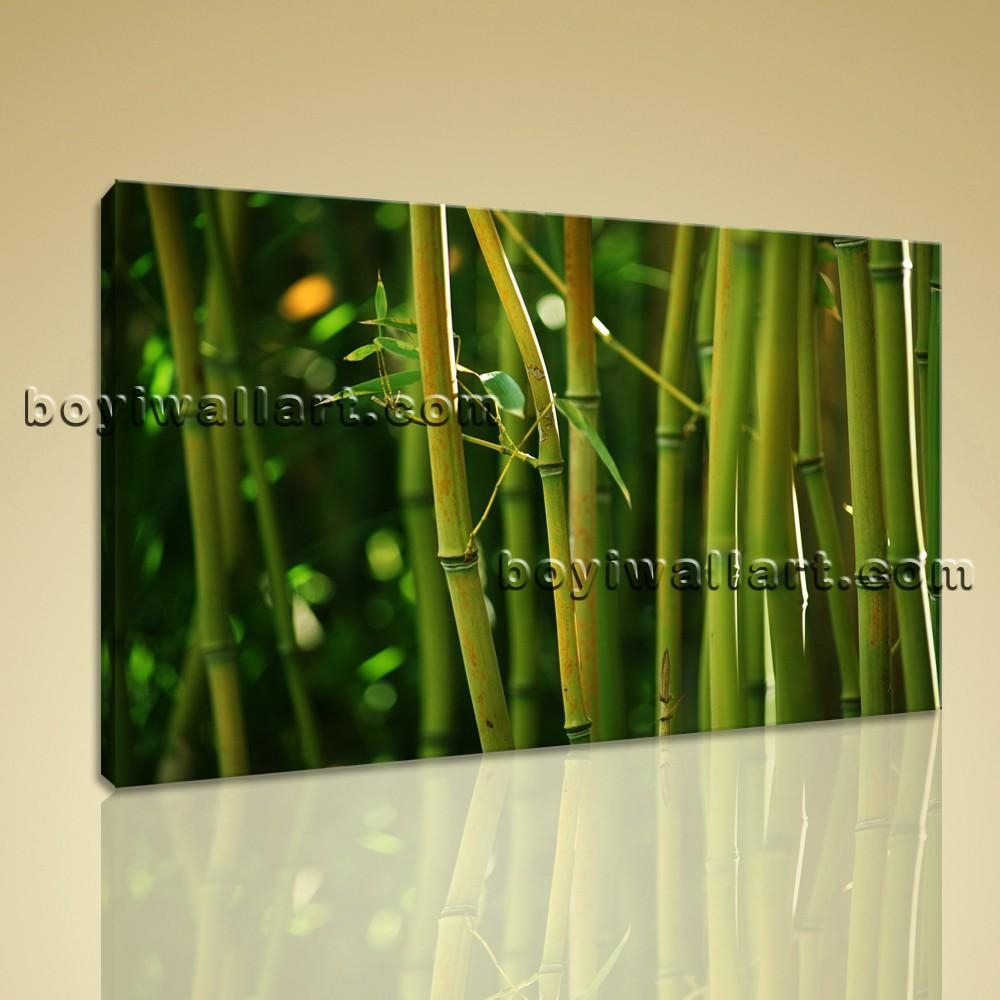 Modern Contemporary Feng Shui Wall Art Hd Print On Canvas Bamboo With Feng Shui Wall Art (Image 13 of 20)