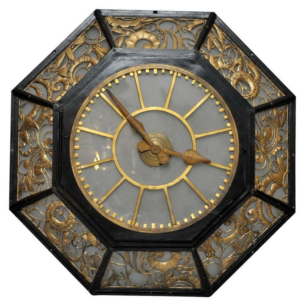 Modern Deco Wall Clock 141 Art Deco Wall Clocks For Sale Lot An Intended For Large Art Deco Wall Clocks (Image 13 of 20)