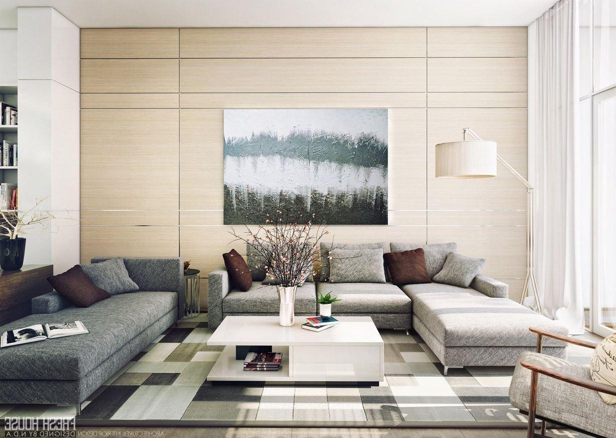 Modern Family Room Design Corner Fireplace Wall Art Ideas Beige Regarding Fireplace Wall Art (View 12 of 20)