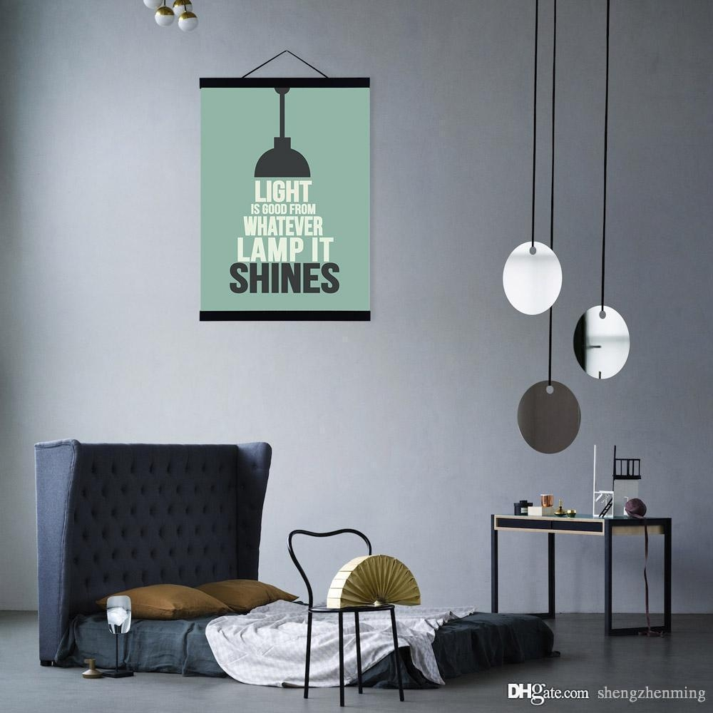 Modern Minimalist Hipster Office Bedroom Wall Art Light Throughout Big Cheap Wall Art (View 19 of 20)