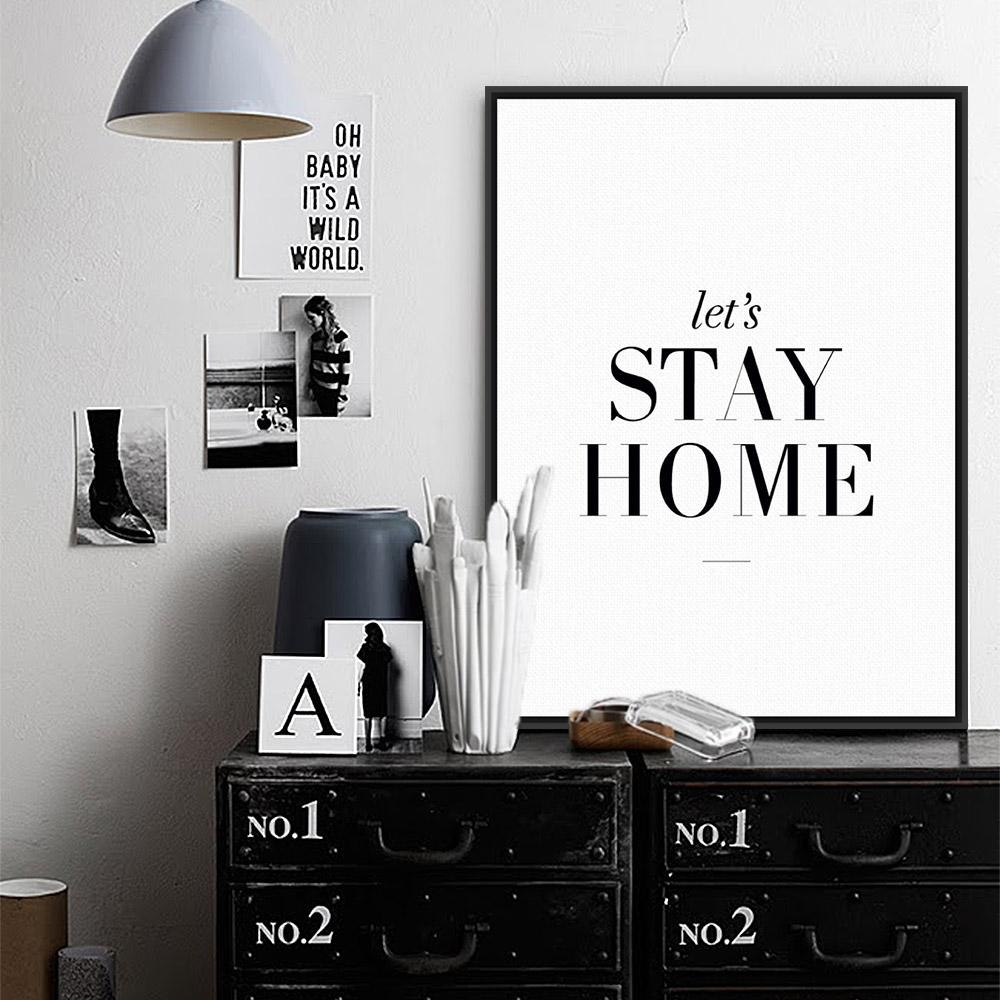 Modern Minimalist Living Room Wall Art Black White Inspirational For Large Inspirational Wall Art (View 9 of 20)