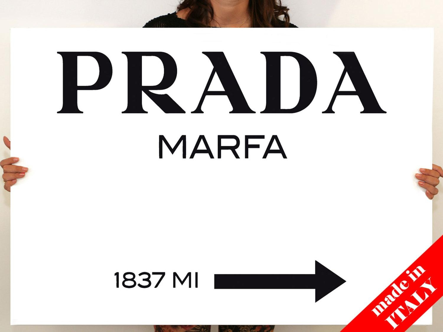 Modern Painting Prada Marfa Gossip Girl Canvas Print Prada Intended For Prada Wall Art (Image 9 of 20)