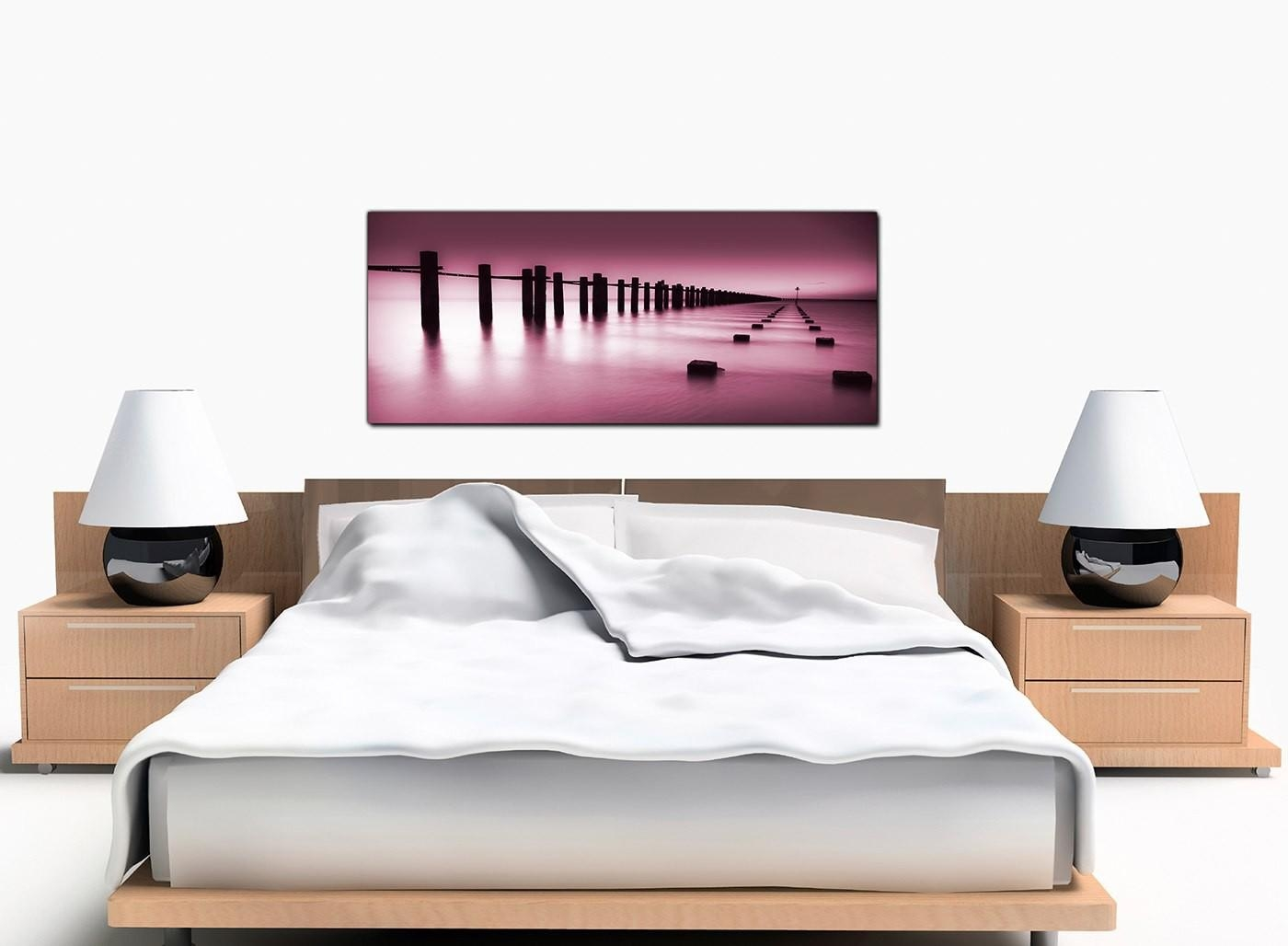 Modern Plum Canvas Wall Art Of The Sea In Plum Coloured Wall Art (Image 14 of 20)