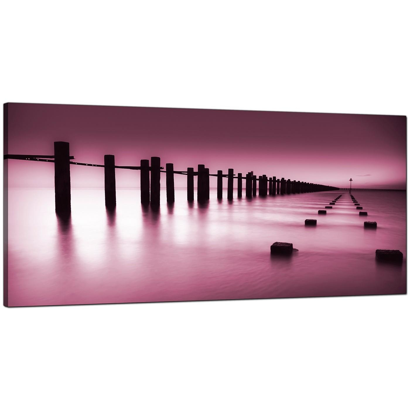 Modern Plum Canvas Wall Art Of The Sea Within Plum Coloured Wall Art (Image 15 of 20)