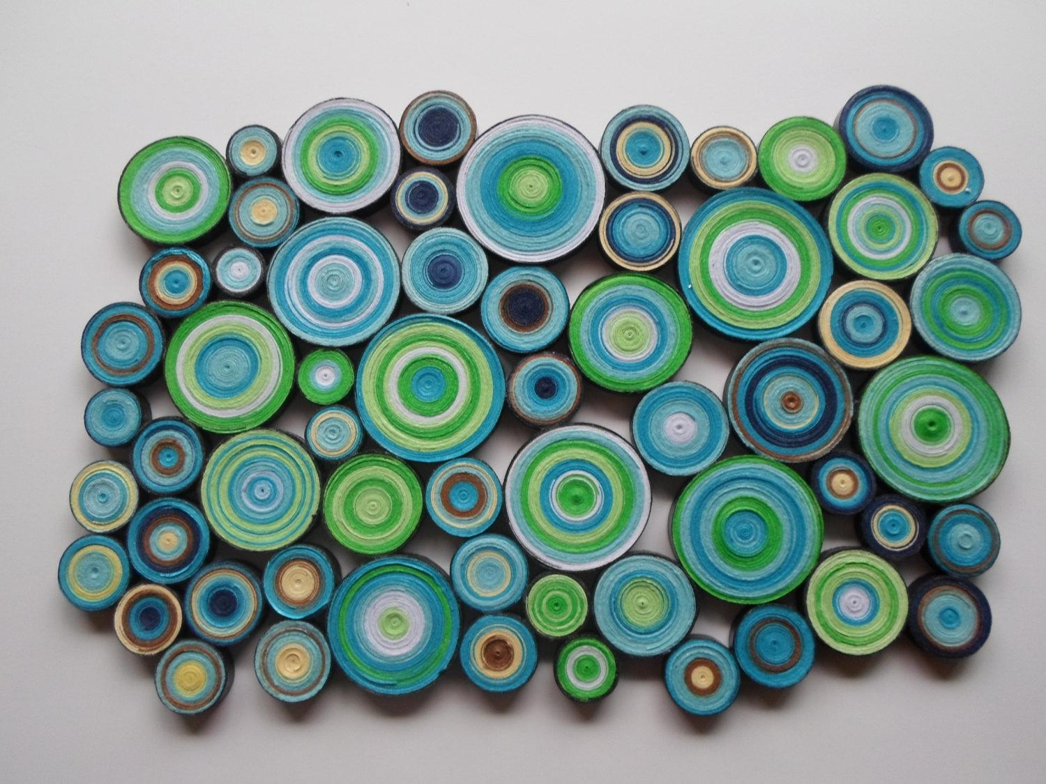 Modern Wall Decor Blue Green Wall Hanging Trendy Home Bedroom Intended For Blue Wall Art (Image 16 of 20)