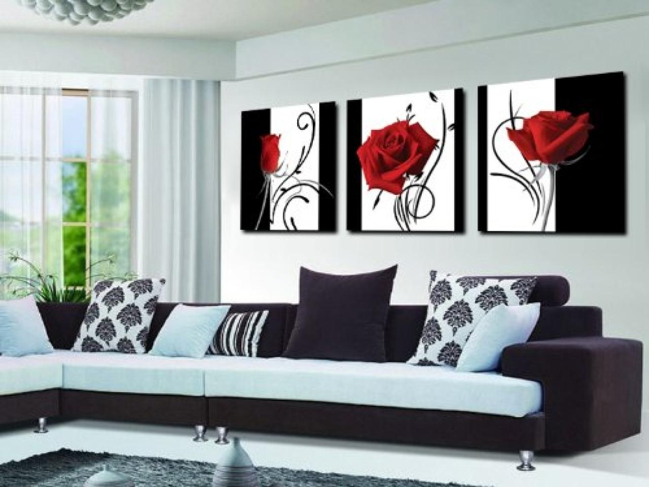 Modern White And Silver Kitchens, Slate Blue Living Room Dark Blue Inside Black White And Red Wall Art (Image 13 of 20)