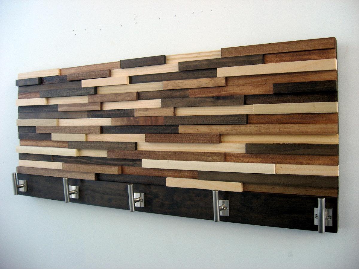 Modern Wood Coat Rack Rustic Coat Rack Modern Coat Hooks For Wall Art Coat Hooks (View 14 of 20)