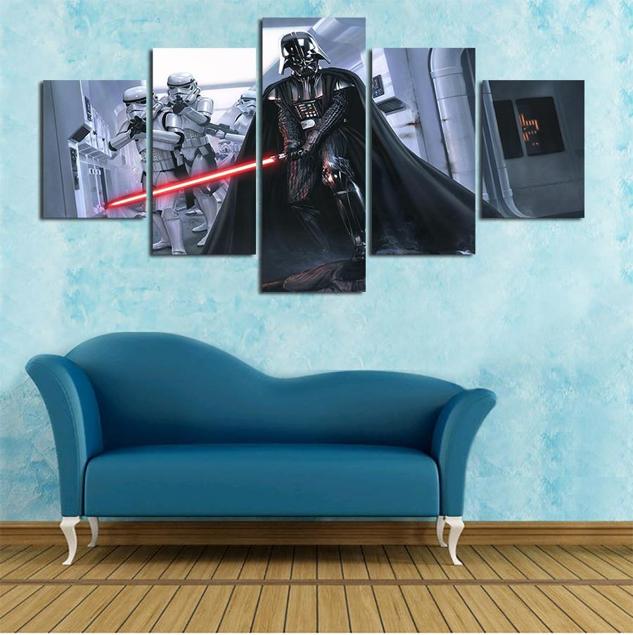 Modular Wall Paintings Fallout Wall Art Framed Star Wars Darth For Modular Wall Art (View 3 of 20)