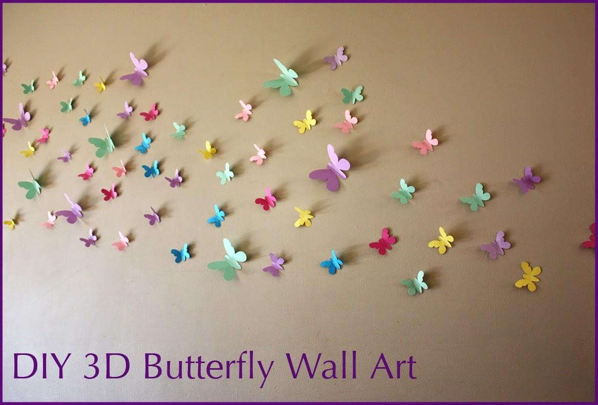 Moomama: Diy 3D Butterfly Wall Art With Free Templates With Regard To Butterflies 3D Wall Art (Image 16 of 20)