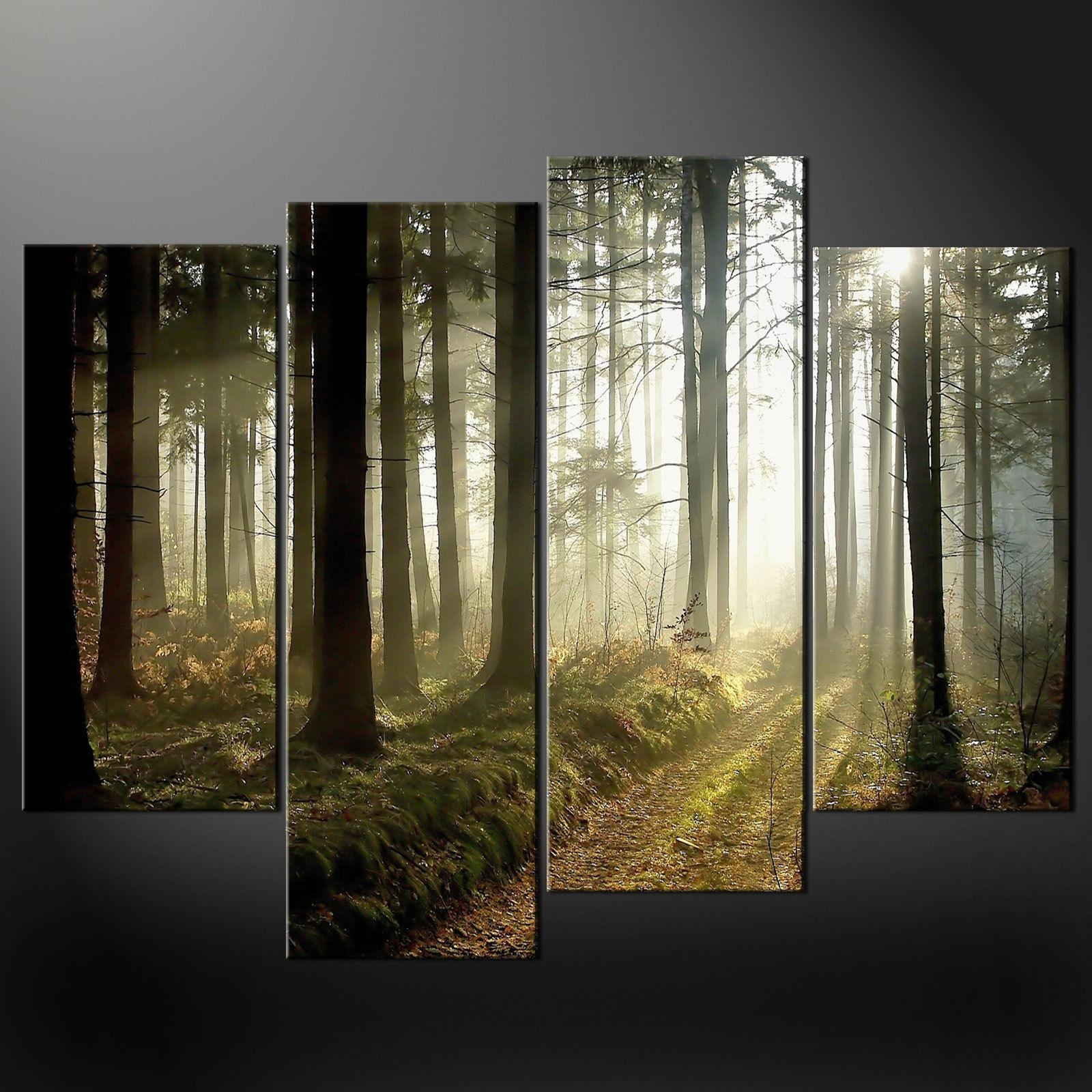 Morning Sunrays Split Canvas Wall Art Pictures Prints Larger Sizes For Split Wall Art (Image 8 of 20)
