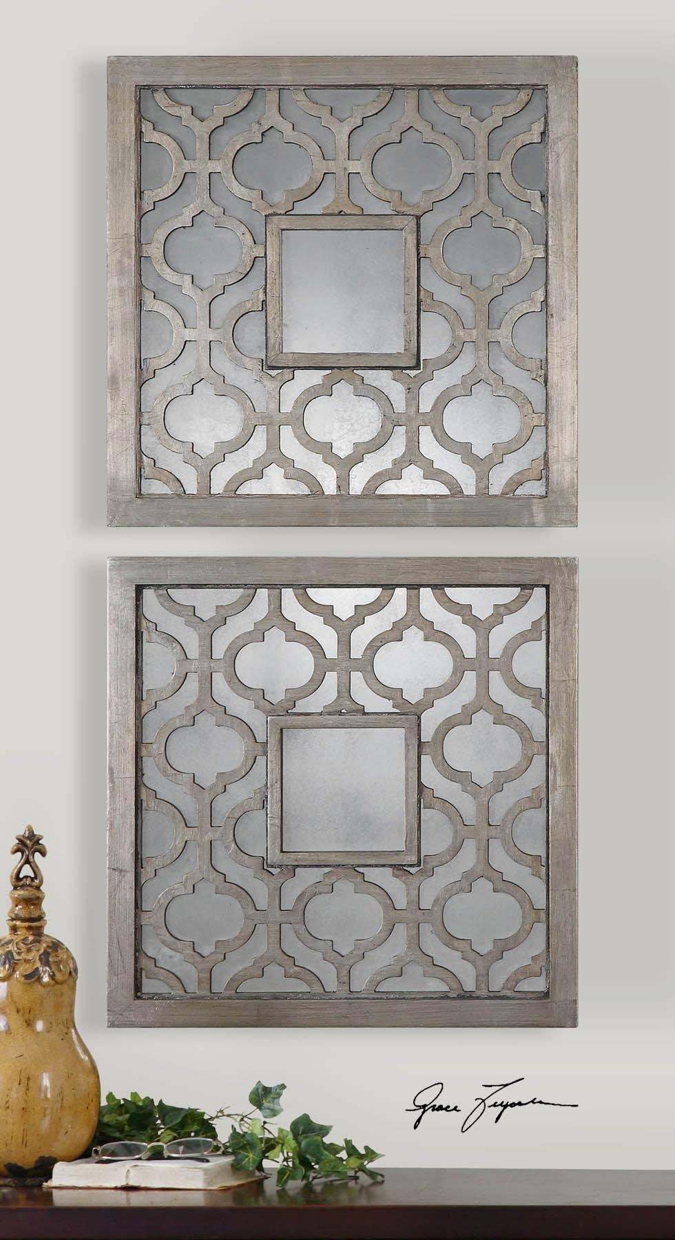 Moroccan Wall Mirror Square : Doherty House – Moroccan Wall Mirror Throughout Mirrored Frame Wall Art (View 7 of 20)