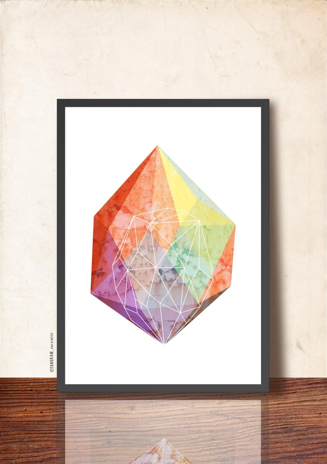 Mother's Day Gift. Geometric Art Print (Image 19 of 20)