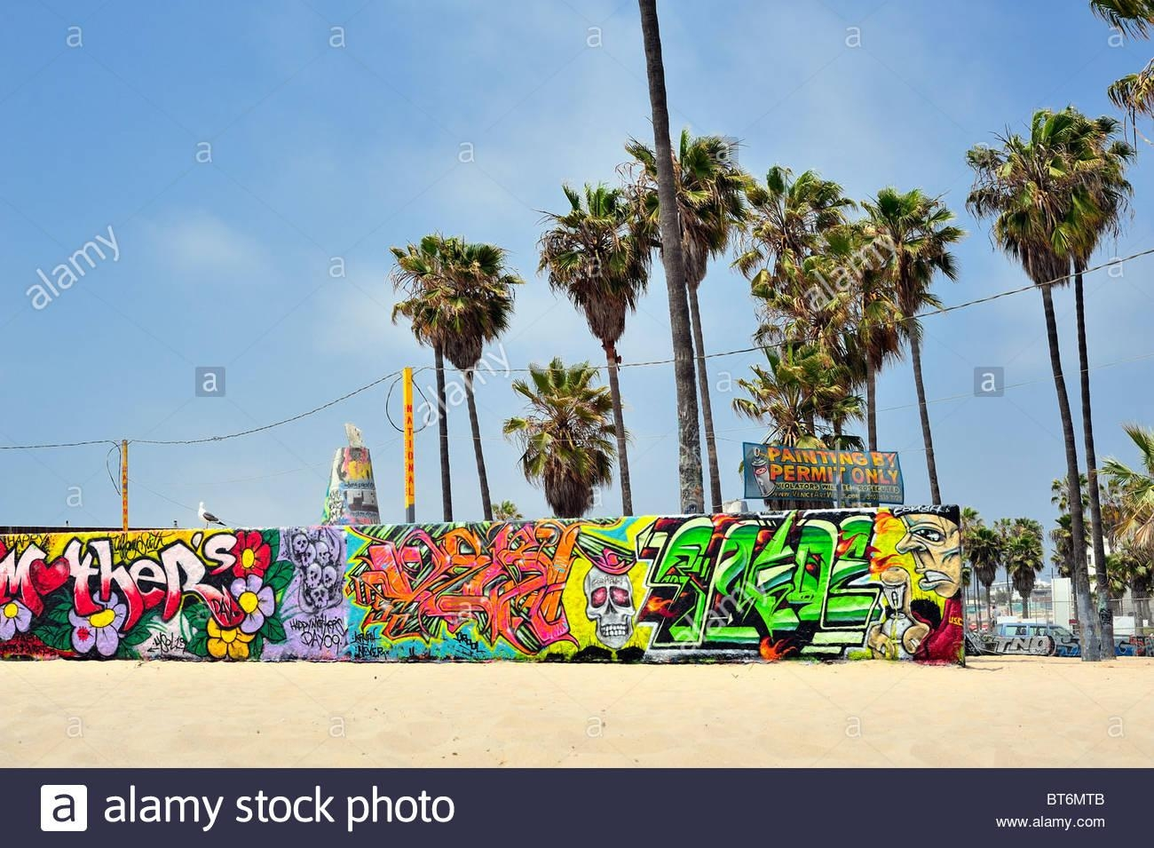 Mother's Day Graffiti On The Public Art Wall Venice Beach, City Of With Los Angeles Wall Art (Image 14 of 20)
