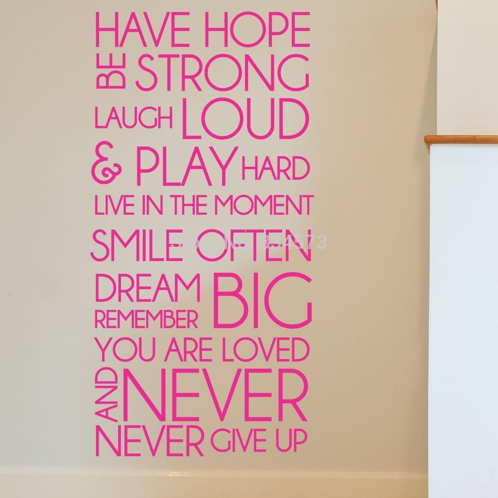 Motivational Wall Art | Roselawnlutheran With Regard To Inspirational Sayings Wall Art (View 20 of 20)