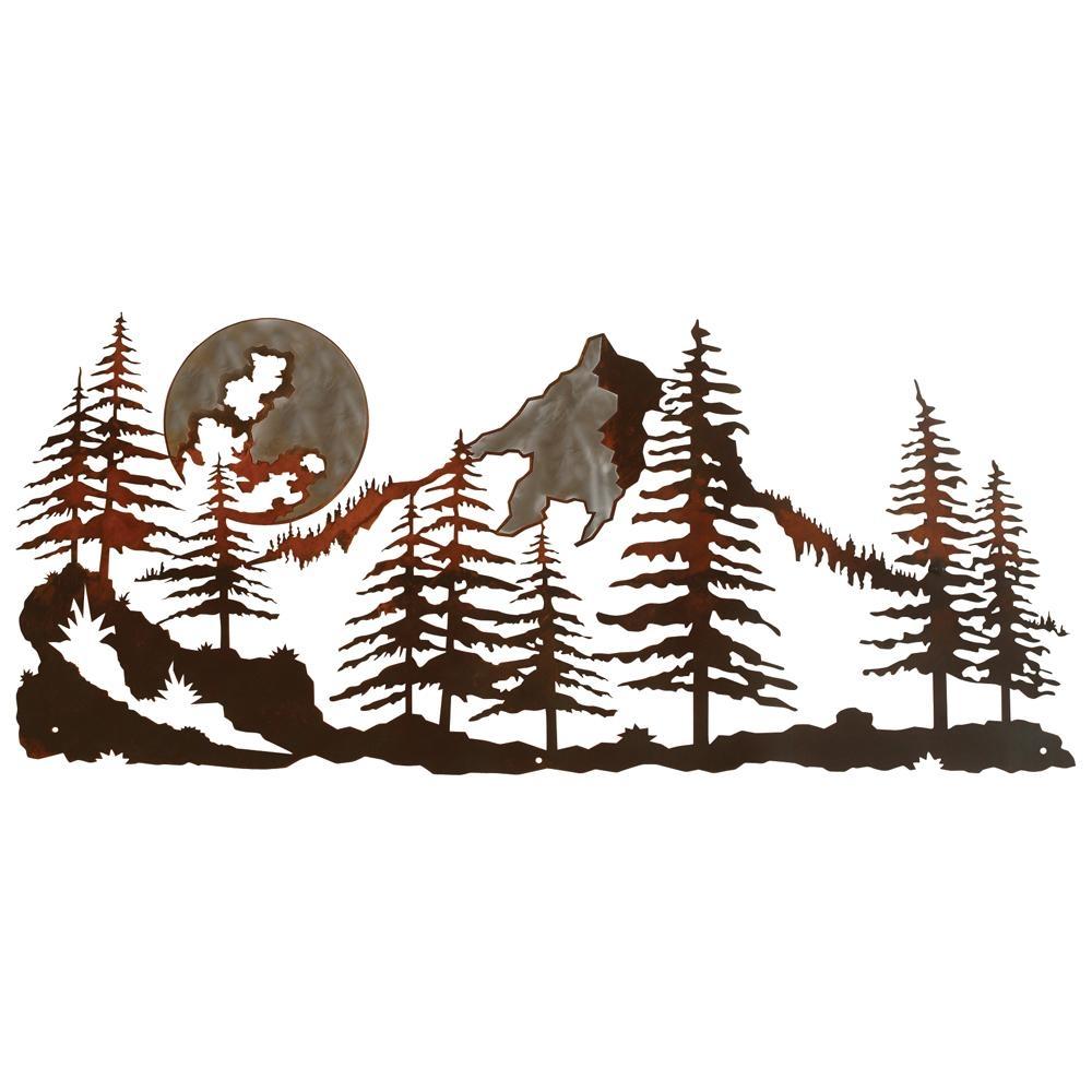Metal Wall Art Mountain Landscapes : Best mountain scene metal wall art ideas
