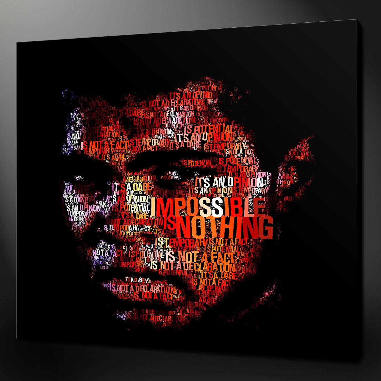 "Muhammad Ali Typography Canvas Wall Art Pictures Prints 20"" X 20 Intended For Typography Canvas Wall Art (Image 15 of 20)"