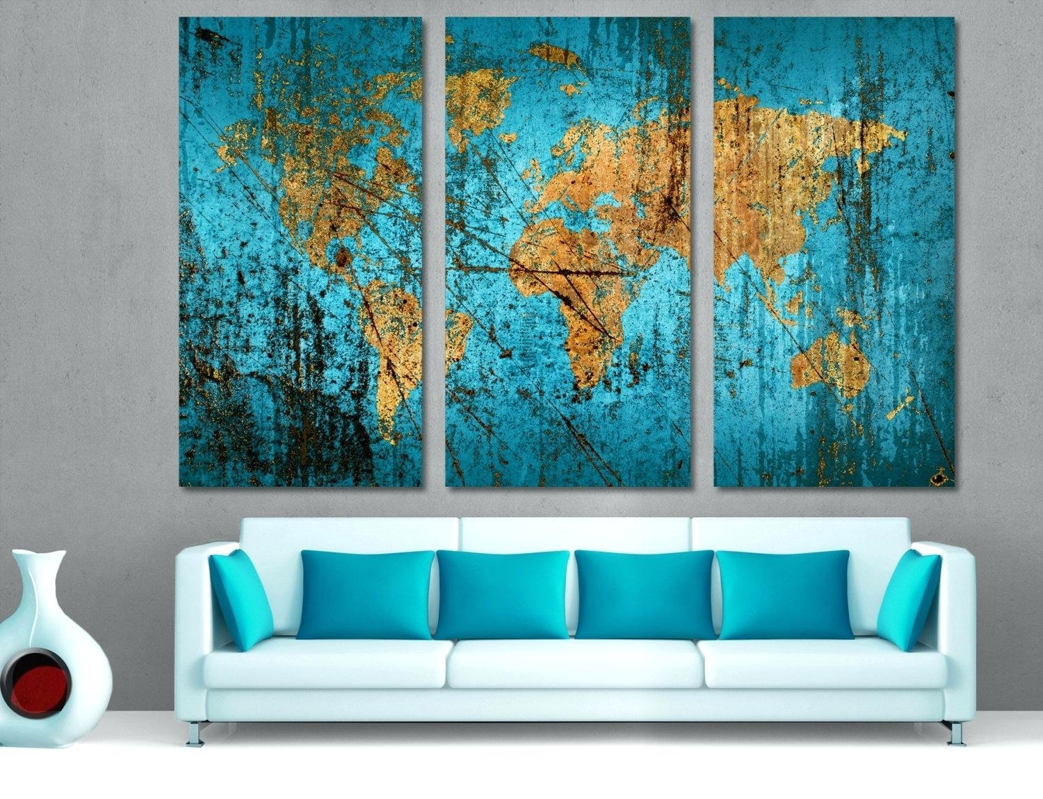 Multiple Piece Wall Art – Bookpeddler Within Multiple Panel Wall Art (Image 6 of 20)