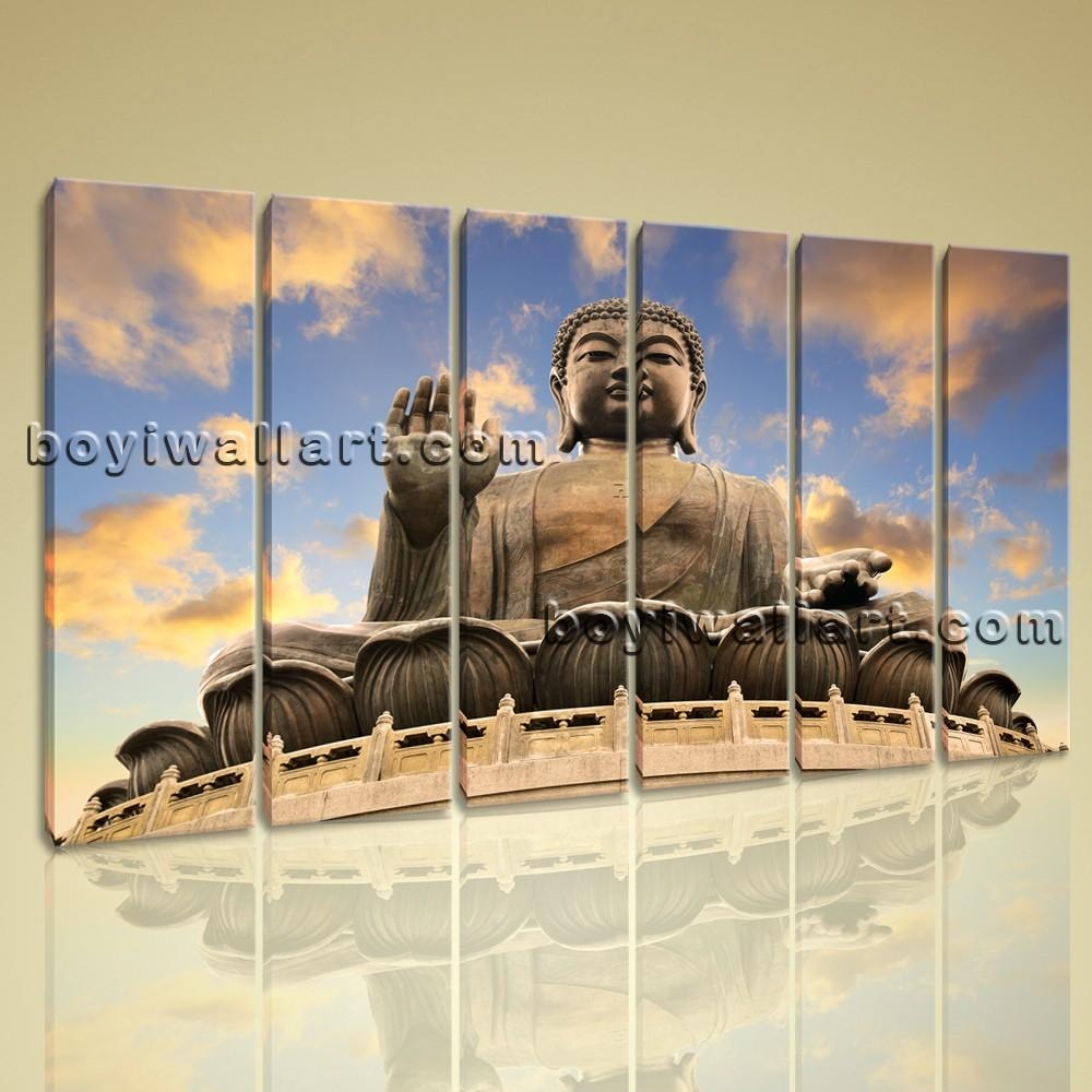 Multiple Pieces Home Room Decor Wall Art Print On Canvas Feng Shui Within Wall Art Multiple Pieces (Image 11 of 20)