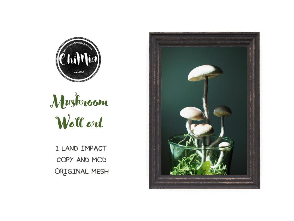 Mushroom Wall Art – Chimia For Mushroom Wall Art (Image 9 of 20)